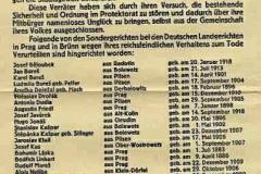 Německá vyhláška o popravách českých obyvatel