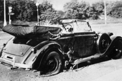 Poničený vůz R. Heydricha po atentátu